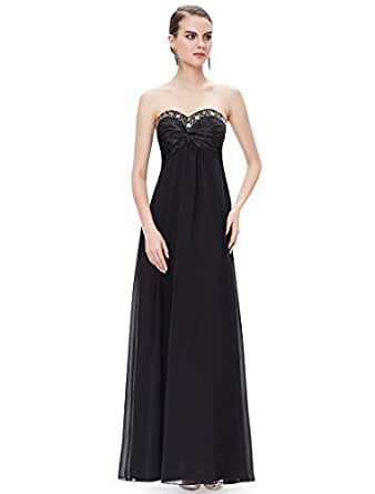 HE09568BK06, Black, 4US, Ever Pretty Wedding Party Dresses 09568