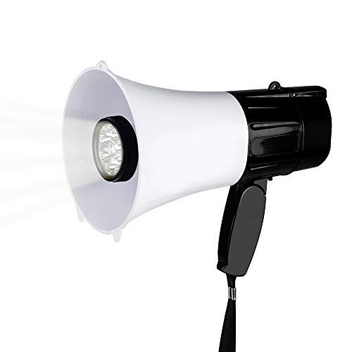 (MyMealivos Portable Compact PA Megaphone Speaker w/Alarm Siren, Adjustable Volume, 40 W Handheld Lightweight Bullhorn )