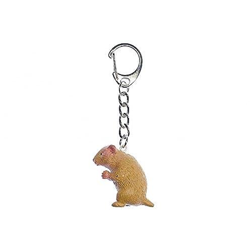 Miniblings porte-clés porte-clés en forme de hamster (doré) syrien en caoutchouc