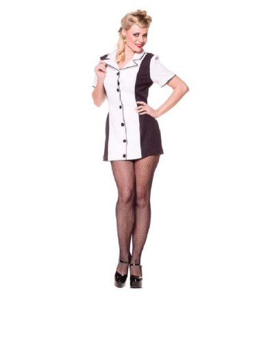 [Pin UP Girl (White) - Medium - Dress Size 8-10] (Billiard Girl Costume)
