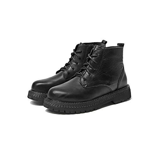 sauvages faites noir décontractées bottines bottes main lacets à mode la à Martin Zpedy dames chaussures ySwEpqYw