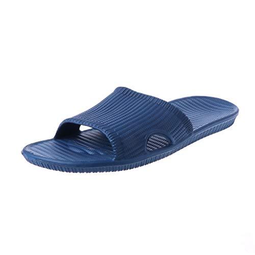 La Zoucy El De Casa Oscuro Baño Para En Casa Zapatillas 45 Cómodas Azul Y ABUzA