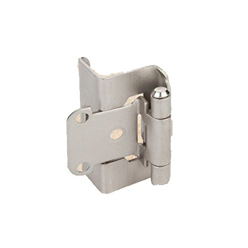 (USA Premium Store Full Wrap Self Closing Cabinet Hinge Satin Nickel 1/2