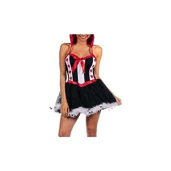 SECRET PLAY Disfraz Queen Rojo: Amazon.es: Ropa y accesorios