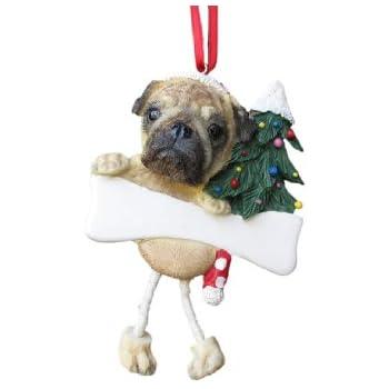 Amazoncom ES Pets Pug Personalized Christmas Ornament Pet Supplies