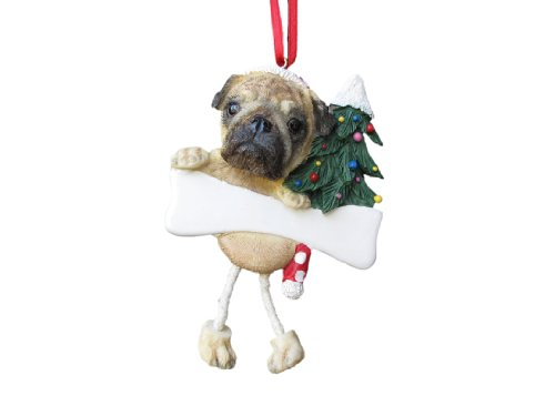 (Pug Ornament with Unique