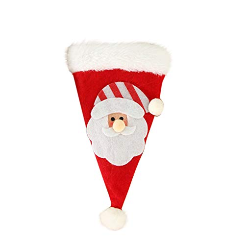 Iusun Christmas Hat Knife Fork Tableware Storage Tool Set Snowmen Santa Claus for Xmas Party Holiday Home Decoration (A)