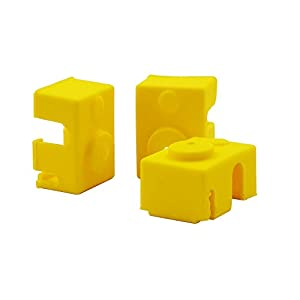 CCTREE 3D Printer Block Silicone Socks Cover for E3D V6 Extruder Hotend (Pack of 3) from CCTREE