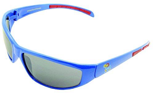 NCAA Kansas Jayhawks Sunglasses Sport Wrap Red Rubber - Sunglasses Cheap Costa Wholesale
