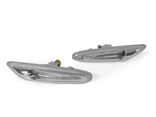 DEPO 2006-2012 BMW E90 / E92 3-Series Amber Light Bar LED Clear Side Marker Light Set ()