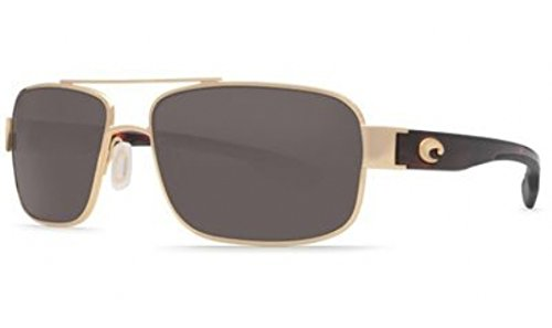 Costa Del Mar Sunglasses - Tower- Plastic / Frame: Gold Lens: Polarized Gray 580P - Del Models Mar Costa