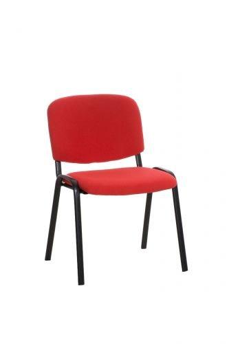 CLP Chaise de Visiteur empilable Ken revê tement ré sistant en Tissu Disponible en Plusieurs Couleurs Orange