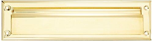 Baldwin 0014031 Letter Box Plate, Unlacquered Bright Brass ()