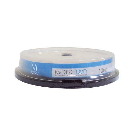 Vinpower 4.7GB M-Disc Write Once Read Forever, Archival Media DVD+R Blank disc White Inkjet Printable, 10 Pack