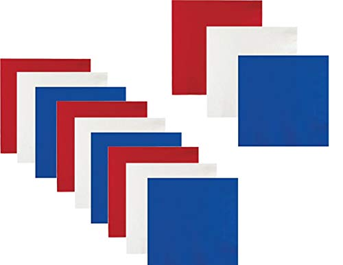 Patriotic July 4th Red White and Blue Beverage/Cocktail Party Napkin Bundle - 60 Total
