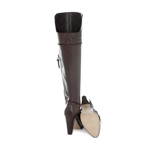 French Connection Femmes Chestnut Cai Cuir Bottes