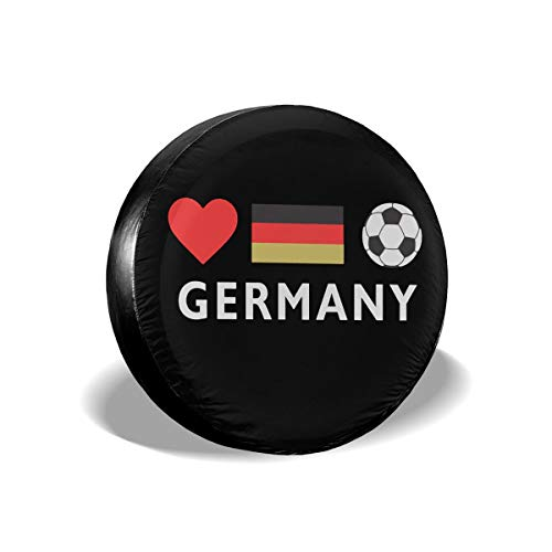 Ybdr94K@ Spare Tire Cover Germany Football German Soccer Durable Universal Wheel Covers for Trailers, RV, SUV, Trucks and Many Vehicle, 14