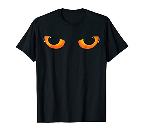 Cat Eyes Funny Halloween Costume T-Shirt
