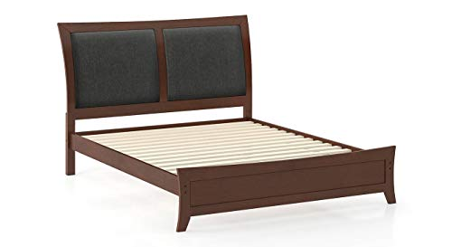 Urban Ladder Packard King Size Bed  Solid Wood   Finish : Dark Walnut