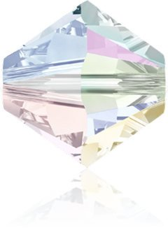 New Swarovski Elements 5328 (5301) Bicones 3 mm Crystal AB 10 Gross (1440) Beads Factory Pack