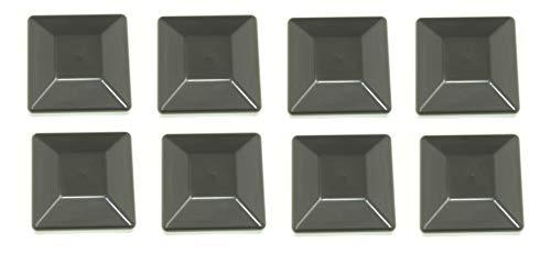 (JSP Manufacturing 8 Pack Fence Post Plastic Black Caps 4X4 (3 5/8