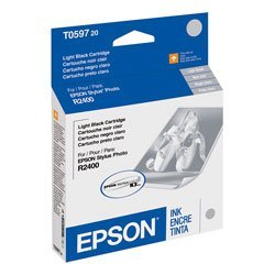 2 X EPSON T059720 Light Black Ink Cartridge - Stylus Photo ()