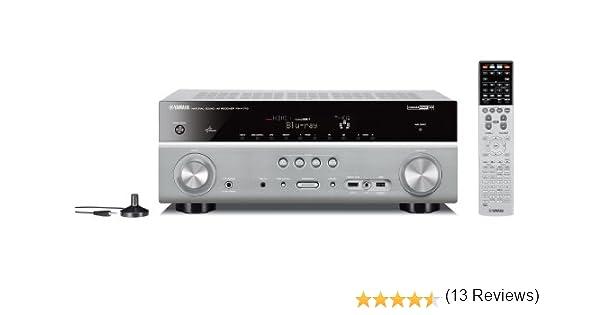 Yamaha RX-V773 - Receptor AV (95 W, 7.2, 180 W, Clamp terminals, Alámbrico, AM, FM) Titánico: Amazon.es: Electrónica