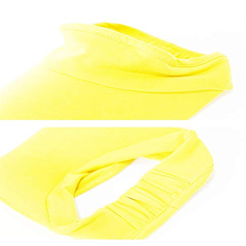 Xingo Elastic Sun Hat Visors Hat for Women Men in Outdoor Sports Jogging Running Tennis (Yellow)
