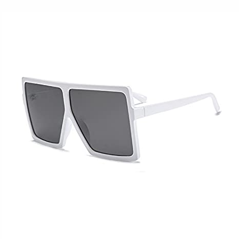 Burenqi Nuovo Fashion Square Occhiali da sole Donne Uomini Brand Designer acetato Oversize Frame lenti colorate UV400,C