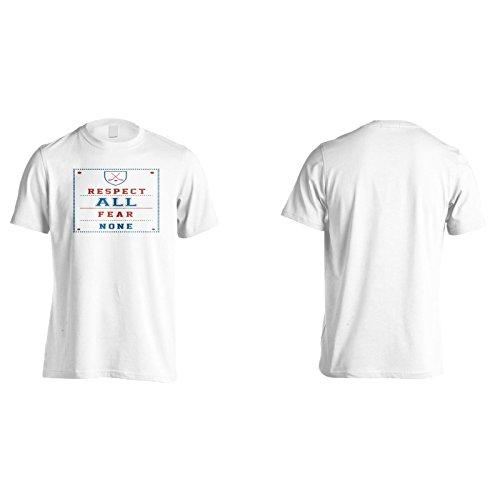 Respektiere Alle Angst Kein Hockey Herren T-Shirt n777m