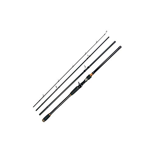(2.1 2.4 2.7M Lure Rod 4 Section Carbon Spinning Fishing Rod Travel Rod Casting Fishing Pole Saltwater Rod Spinning,White,2.4 M)