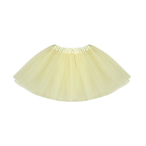 Dance Recital Costumes 2016 (Leoy88 2018 Baby Girls Princess Pettiskirt Ballet Tutu Skirt Mini Dress For Party Ballet Dance (One Size, Beige))