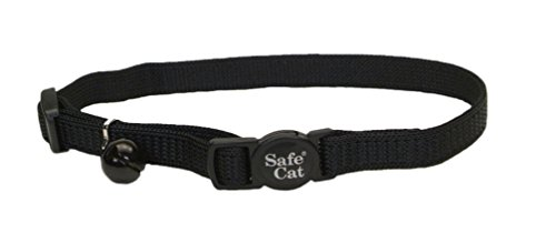 Coastal Pet Products Nylon Safe Cat Adjustable Breakaway Collar with Bells, black