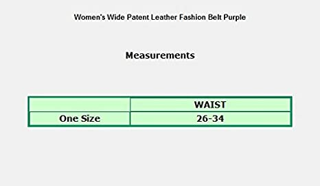 eVogues Womens Wide Patent Leather Buckle High Waist Fashion Belt