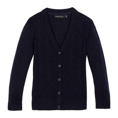 Debenhams Kids Girls' Navy Cable Knit Cardigan