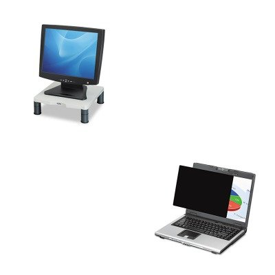 KITFEL4801101FEL91712 - Value Kit - Fellowes Blackout Privacy Filter for 19amp;quot; Widescreen LCD/Notebook (FEL4801101) and Fellowes Height-Adjust Standard Monitor Riser (FEL91712)