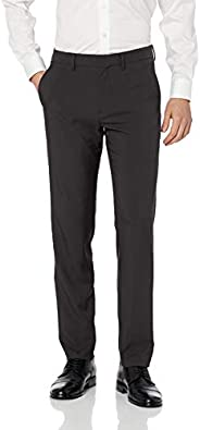 Haggar Mens Active Series Performance Straight Fit Flat Front Dress Pant Dress Pants
