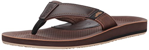 cobian Men's Movember Flip Flop, Brown, 11 M US