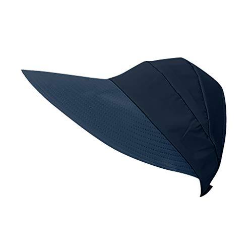 Sun Hats for Women Wide Brim UV Protection Sun Hat Summer Beach Packable Visor Black