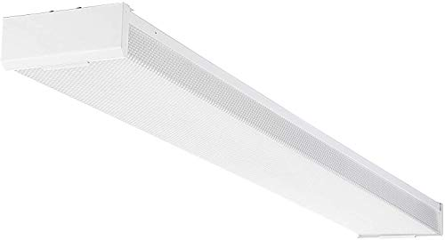 LEONLITE 42W 4ft LED Wraparound Light LED Garage Shop Lights, DLC & UL-Listed, Surface Mount, 4000K Cool White, Integrated Low Profile Linear Flush Mount Ceiling Lighting, 5-Year Warranty