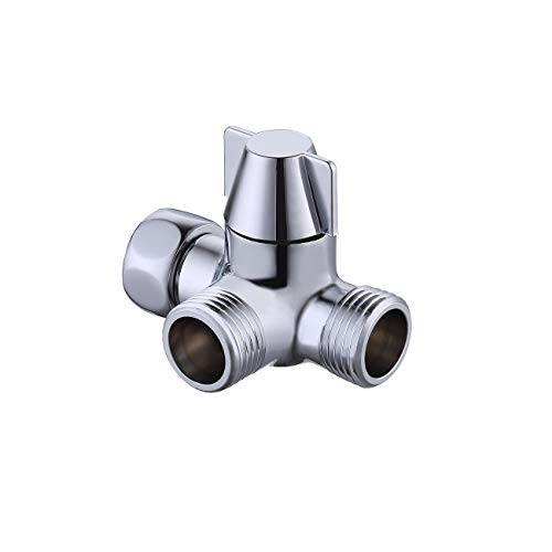 KES PV8 Handheld Shower and Shower Head Shower Arm 3-Way Diverter Brass, Polished Chrome