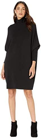 Majestic Filatures Women`s French Terry Relaxed Turtleneck Dress / Majestic Filatures Women`s French Terry Relaxed Turtleneck Dress