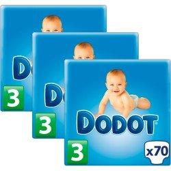 Pañales DODOT talla 3 210 pañales (3 paquetes de 70 pañales) (de 5