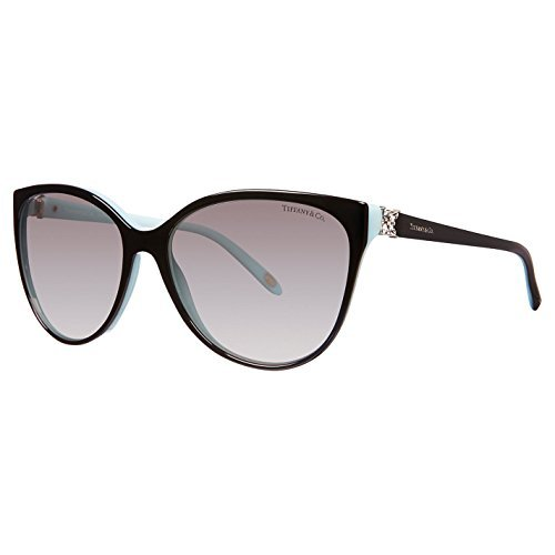 Tiffany & Co. 0tf4089b Authentic Women's Sunglasses 58mm Limited Edition Polarized Grey Gradient Lenses Black/blue - Tiffany Sunglasses Polarized