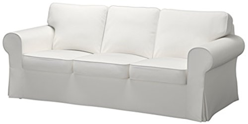 Good Life The Ektorp 3 Seat Sofa Cover Replacement is Custom Made for IKEA Ektorp Sofa Cover, A Ektorp Sofa Slipcover Replacement (Dense Cotton White) ()