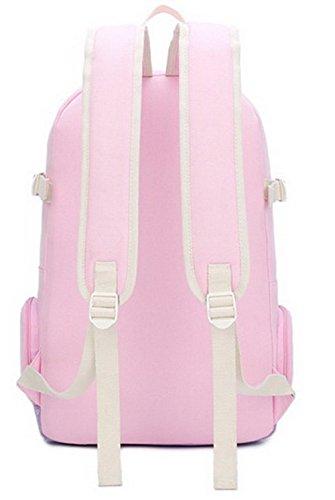 VogueZone009 fourre Zippers bandoulière à Voyage CCAFBP180893 tout Rose Toile Sacs Femme Sacs FtrtX