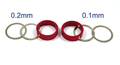 m Bevel Collar Red & 15mm Diff Shims For Axial Yeti XL 90032 (Aluminum Diff Kit)