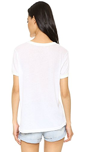 Wildfox Mujer Drive Thru Window Vintage Top Tee Blanco