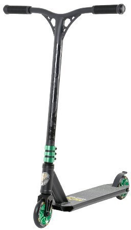 STAR-SCOOTER® Original Pro Sport Complete Leight Weight Stunt Scooter for Adults, Teenager and for Kids over 7 years | For Beginners up to Advanced Skill Riders with Alloy Wheels 110mm | Black & Green