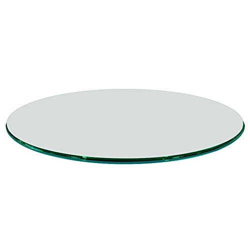 Fab Glass and Mirror 1/2'' Thick Ogee Tempered Glass Round Glass Table Top, 66'' by Fab Glass and Mirror